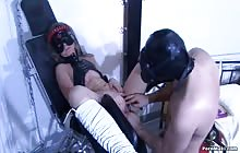 Hot Masked Chick Gets Fucked