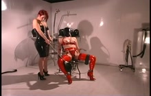 Slave enjoys breath play