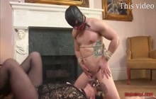 Busty babe enjoys hardcore bondage sex